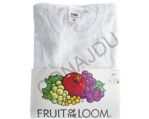 Tričko Bílé Fruit of the Loom