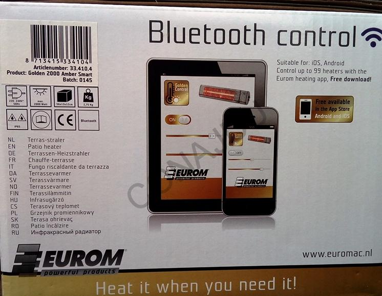 Eurom Golden 2000 Amber Smart Bluetooth